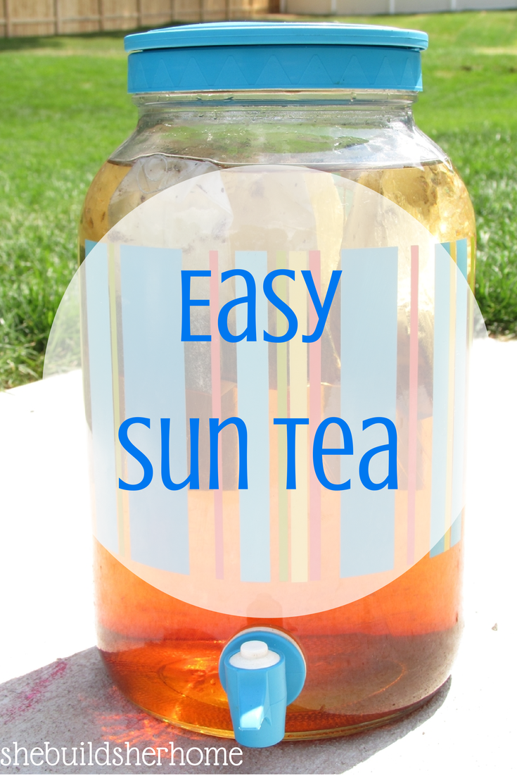 how to make sun tea with lipton iced tea bags