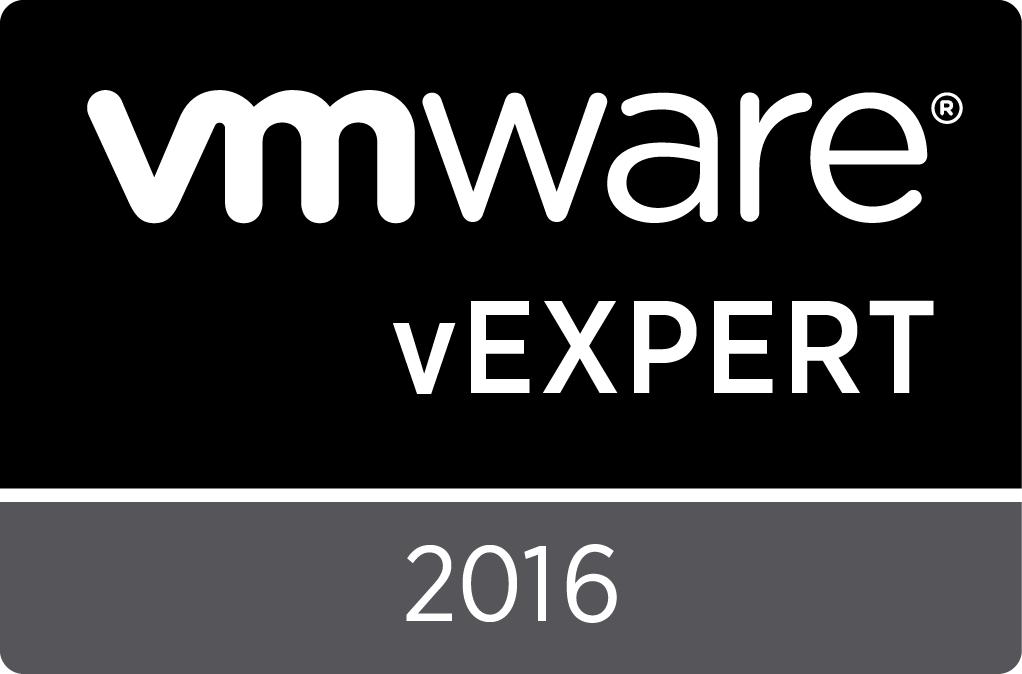 vExpert Award 2016