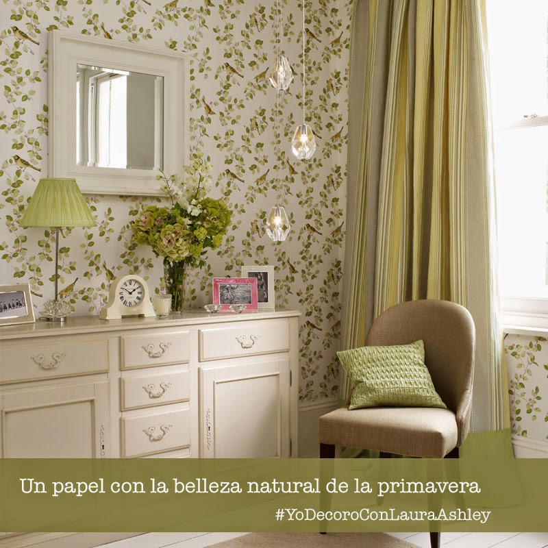 Papel pintado Aviary Garden Laura Ashley