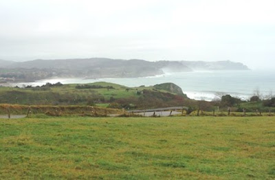 Caravia, vista de la costa occidental del concejo