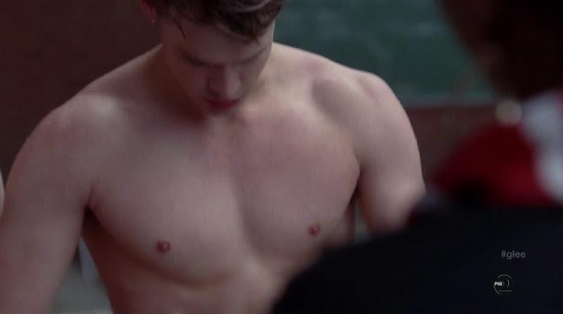 Chord Overstreet Shirtless in Glee s3e10Shirtless