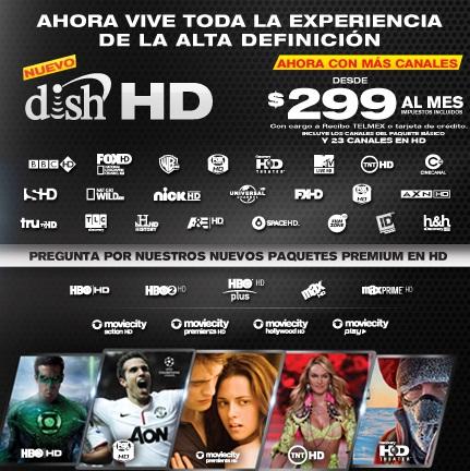 dish hd mexico tv y canales