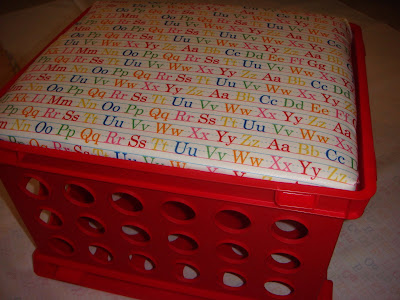 Red File Storage Crate
