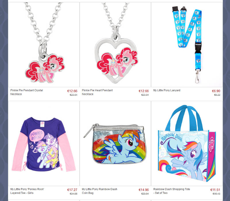 Mlp merch my little pony merchandise news zulily a famous site with themed daily sales has launched a brand new sale on their my little pony collection you can get up to 60 on a total of 61 mozeypictures Images