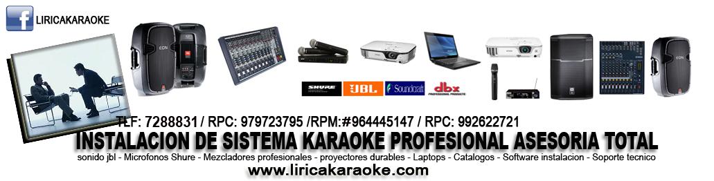 Instalacion de Karaoke Profesional