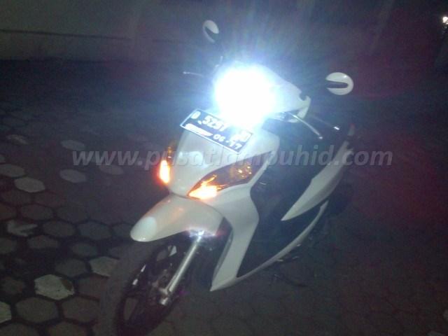 Lampu HID Xenon Motor RICHTER Honda Spacy putih 6000k