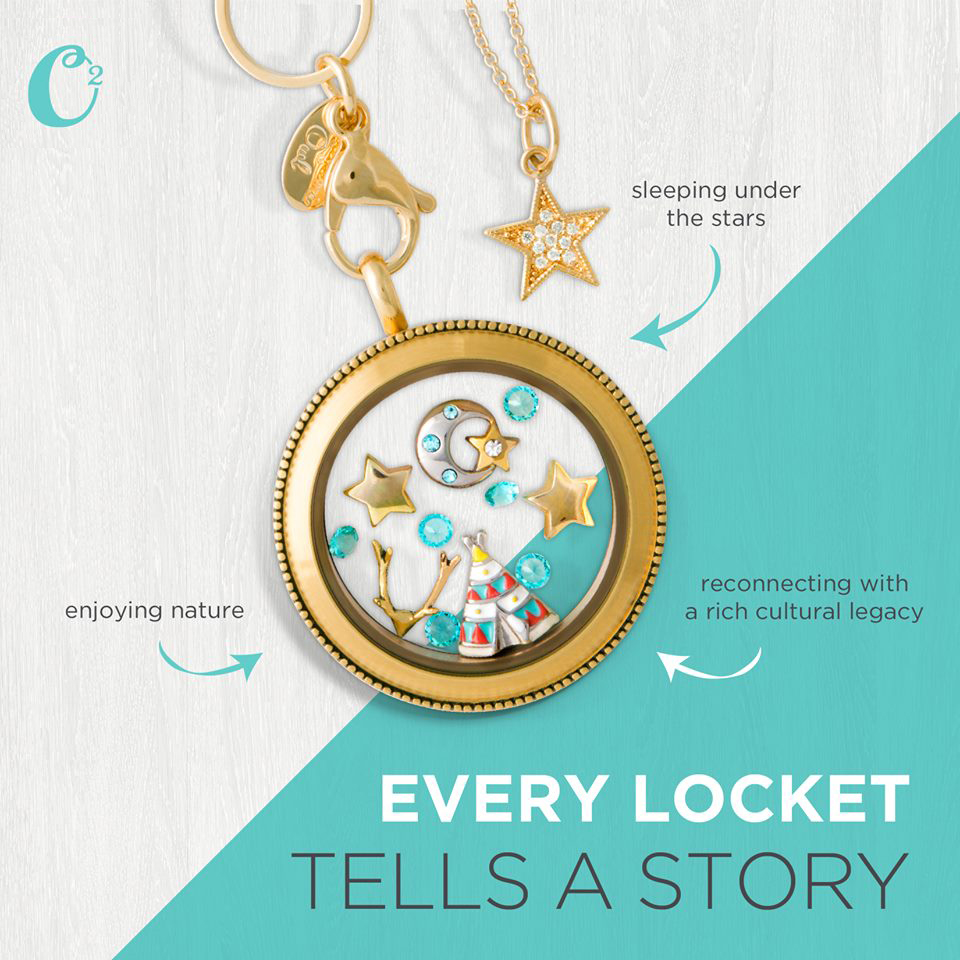 Under the Stars Origami Owl Living Locket | Come create your own locket today at StoriedCharms.com