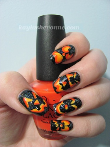 Nails by kayla shevonne 2010 alright heres the next nail art design in my halloween series jack o lanterns prinsesfo Image collections