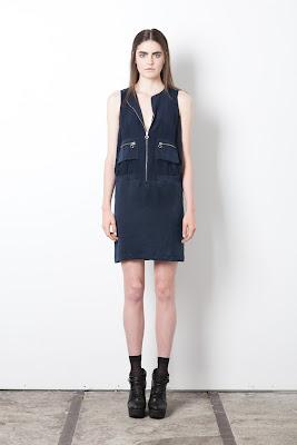 Bomber dress, blue