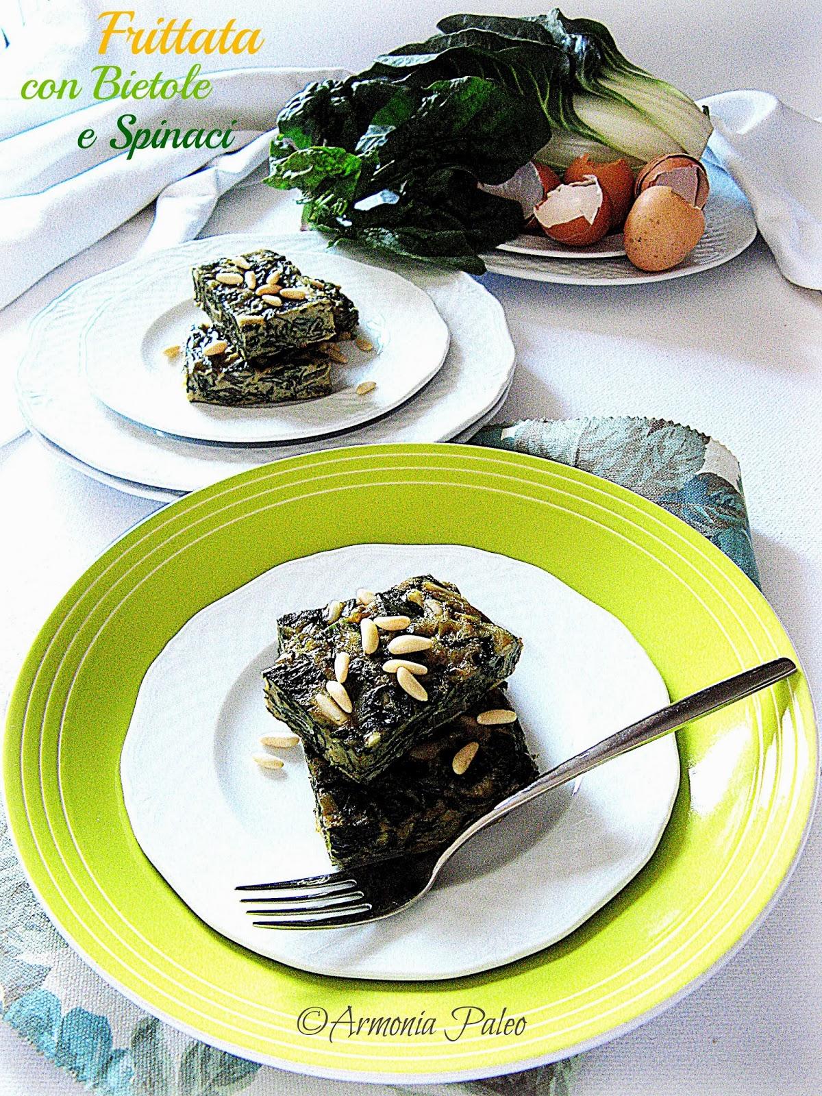 Frittata con Bietole e Spinaci di Armonia Paleo
