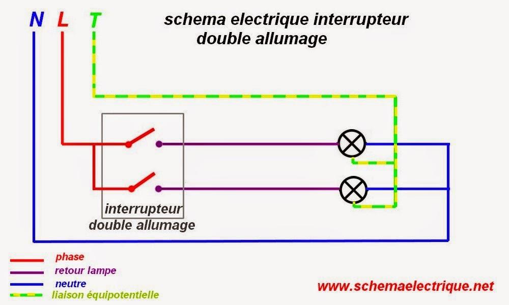 Connu Schema Electrique Branchement Cablage XN08