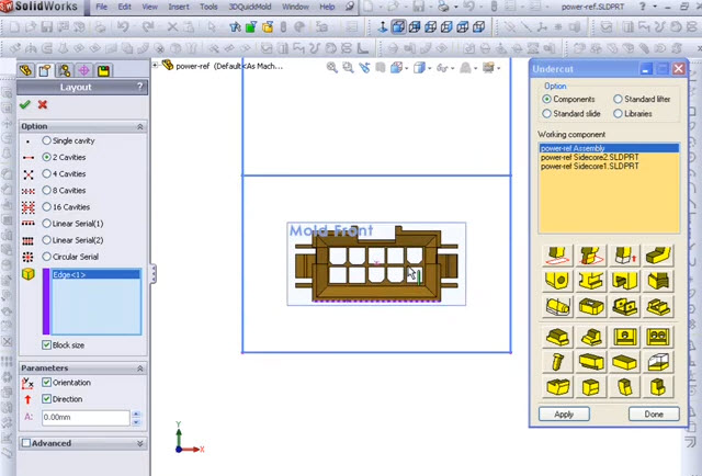 How to 3dquickmold for connector mold design by solidworks for Online drawing websites