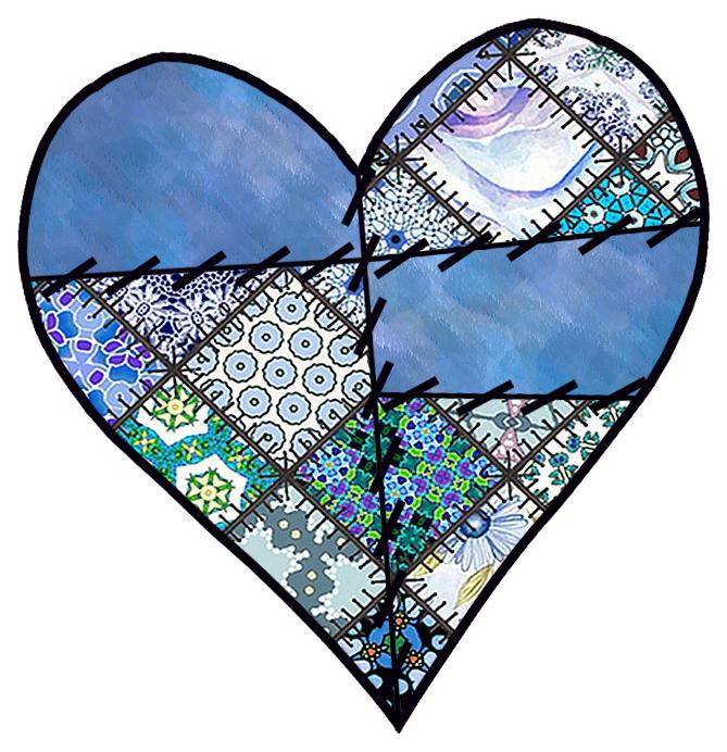 Patchwork Heart Clip Art