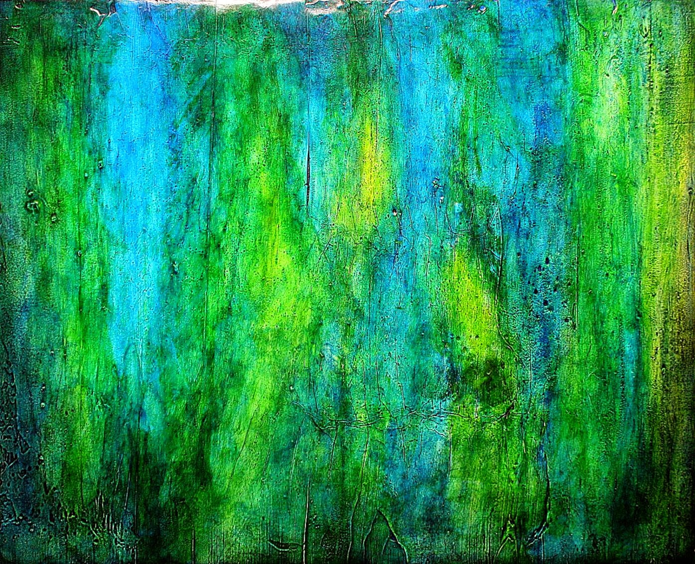 Abstract Painting Blue Green Element by mmedley on Etsy