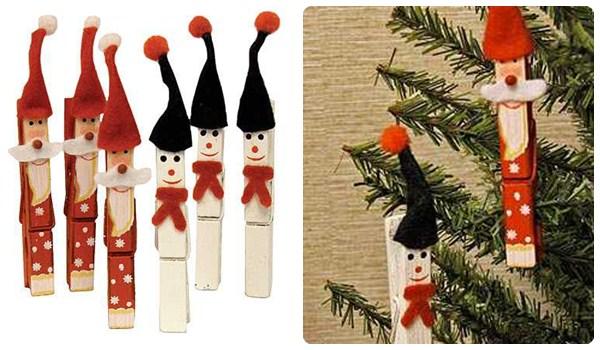 Neo arquitecturaymas manualidades con pinzas - Manualidad ninos navidad ...