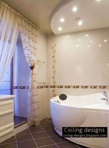 bathroom ceiling ideas, false ceiling for bathroom made of gypsum with ceiling lighting