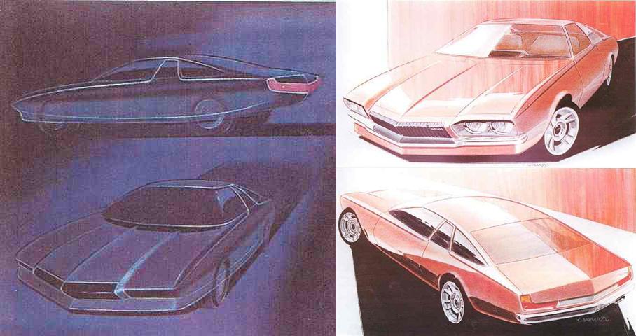 Mazda Cosmo AP, koncept, rysunek, wczesna wersja, ciekawy design, JDM, japoński sportowy samochód