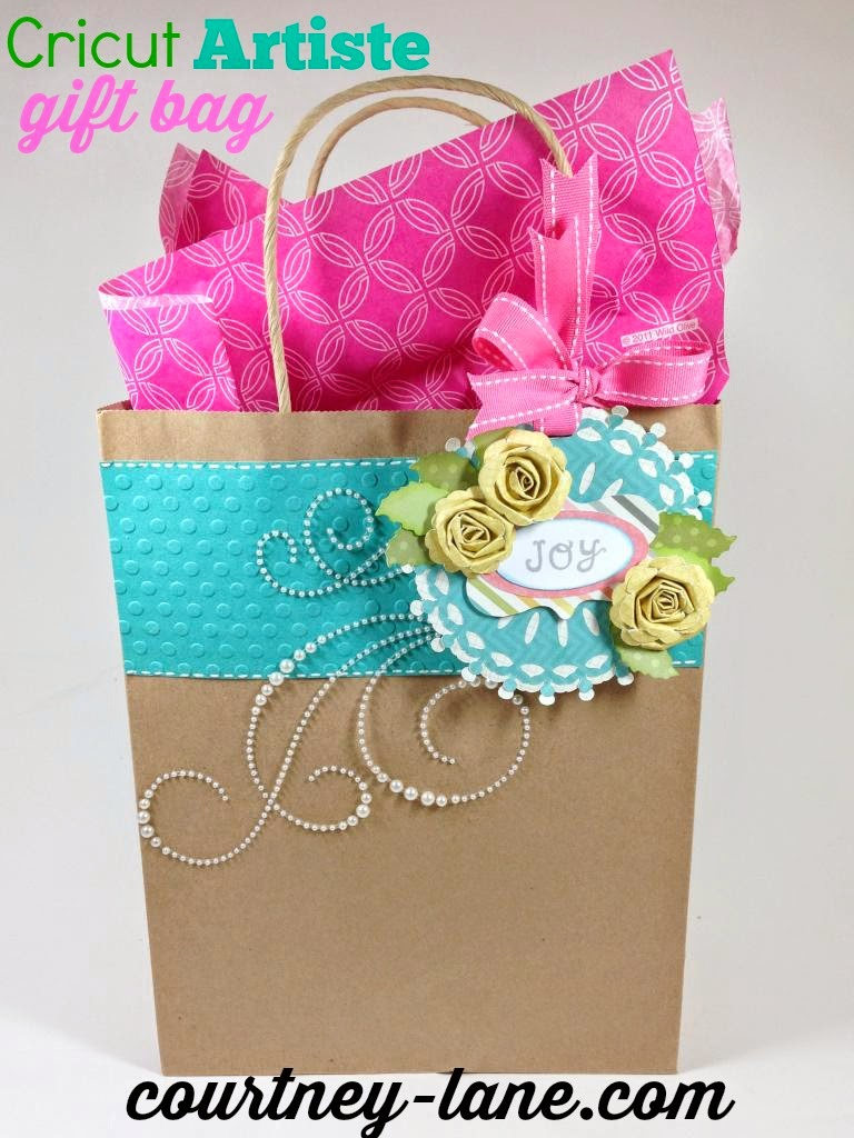 Cricut Artiste fancy gift bag