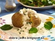 Pečené zemiaky v alobale so syrom Cottage - recept