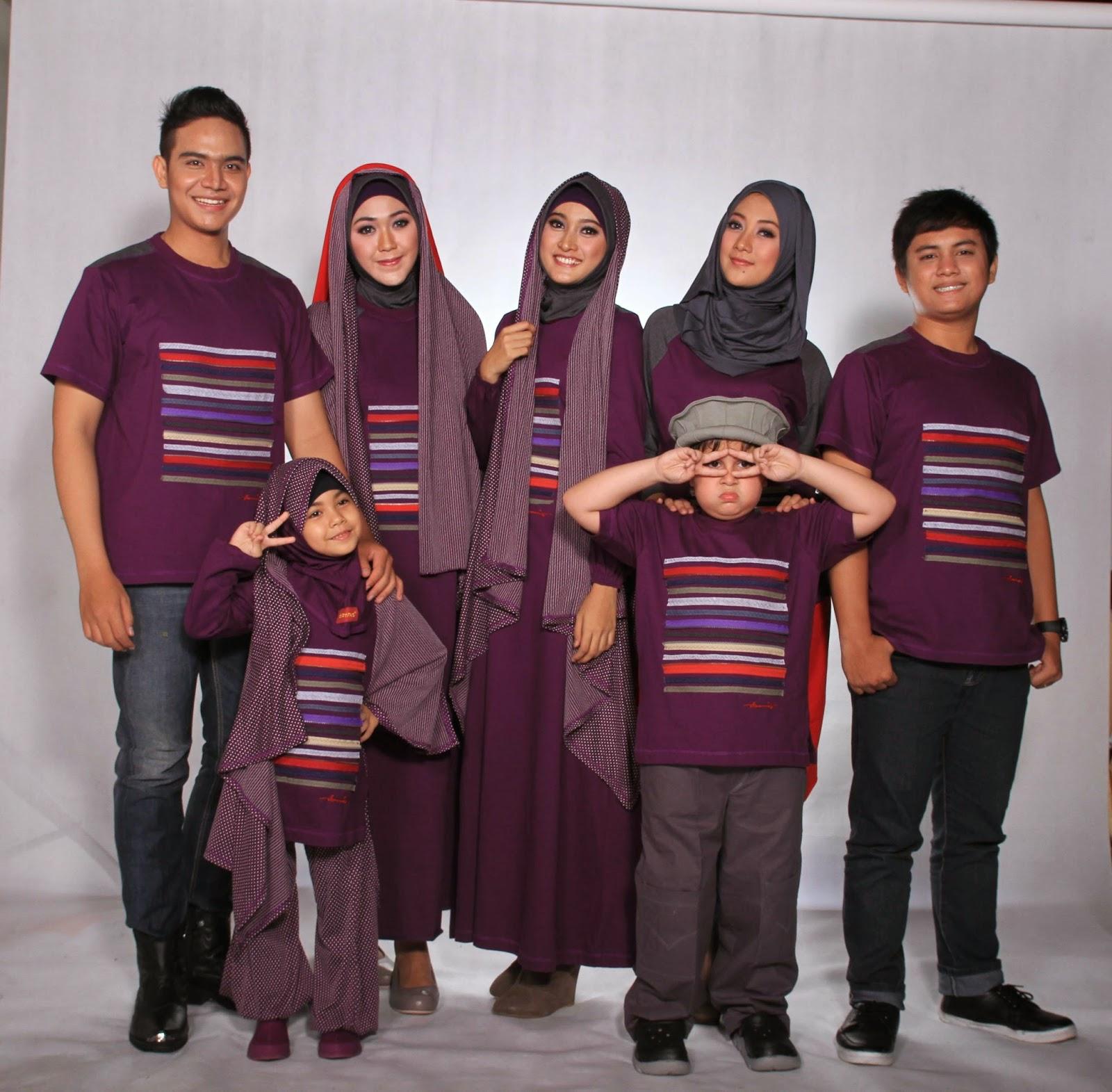 Model Baju Keluarga Muslim Seragam Kembar Terbaru 2018