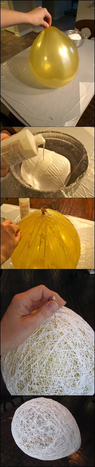 Make an Egg Shaped Easter Basket From String