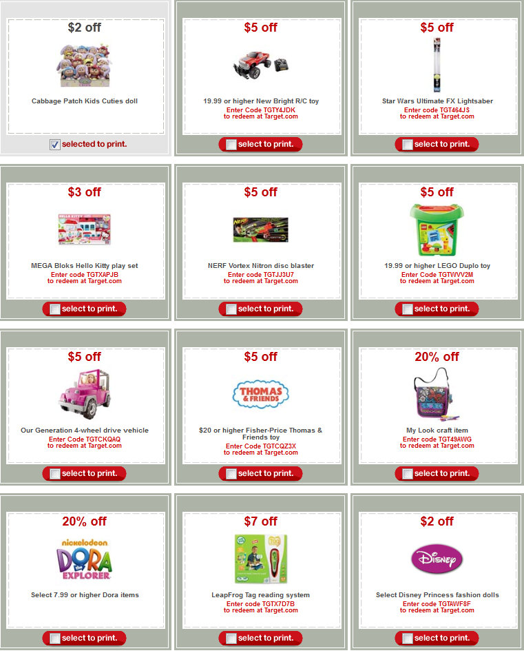 Target toy coupon code