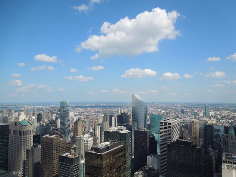 Rockefeller Center observation deck Northeast view New York