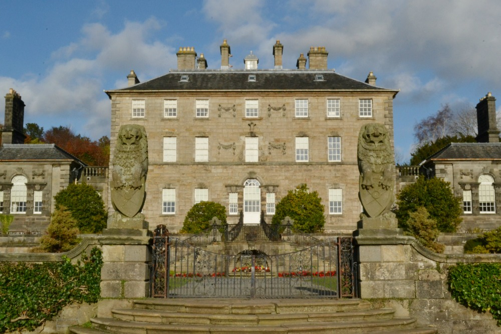 pollok country park house glasgow scotland autumn