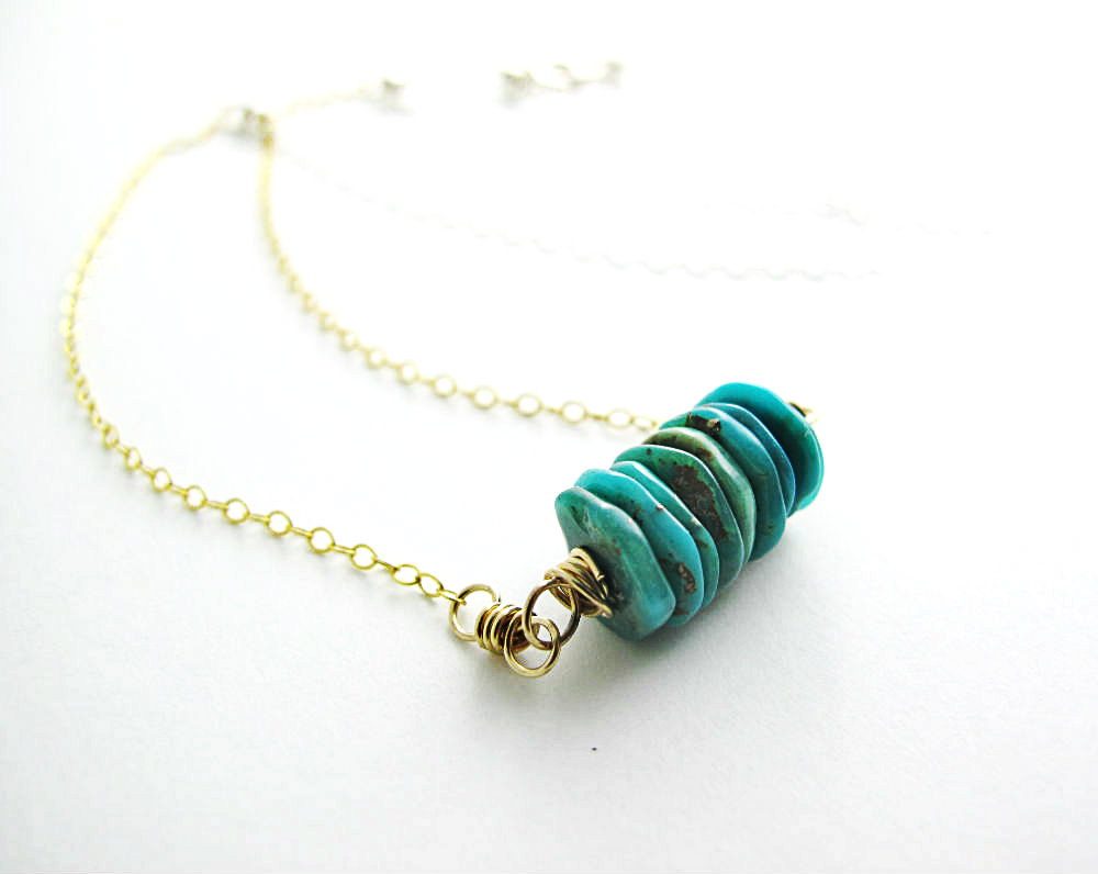 Soul Skin Turquoise Necklace by Beth Hemmila of Hint Jewelry