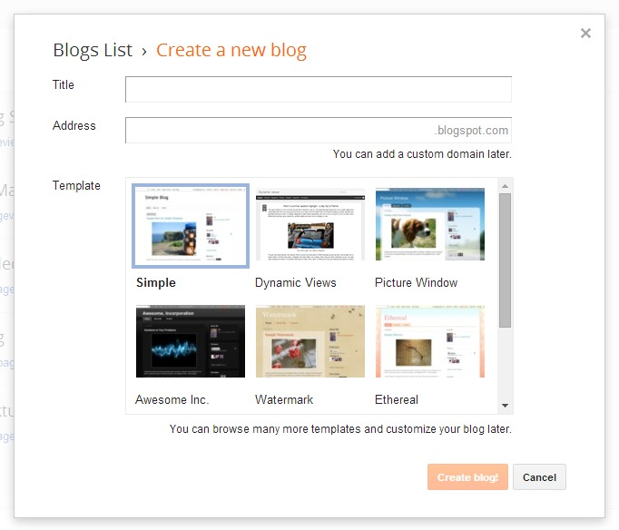 Cara Memilih Judul dan Alamat Blog