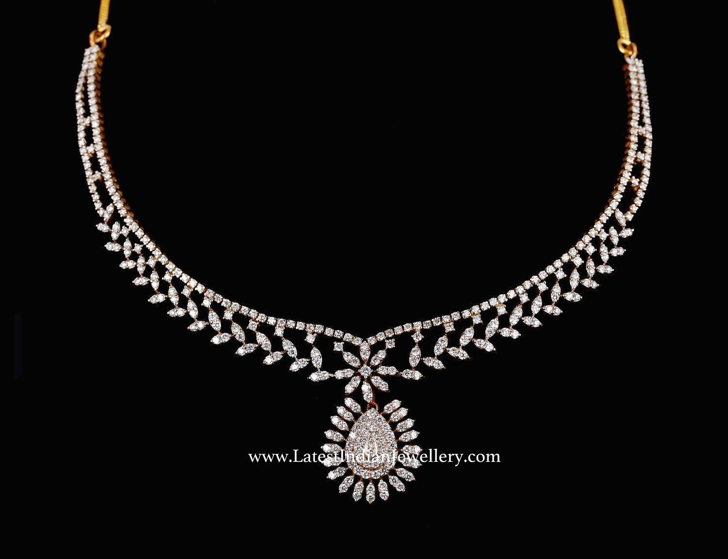 Modish Simple Diamond Necklace