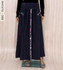rok muslimah kain jersey