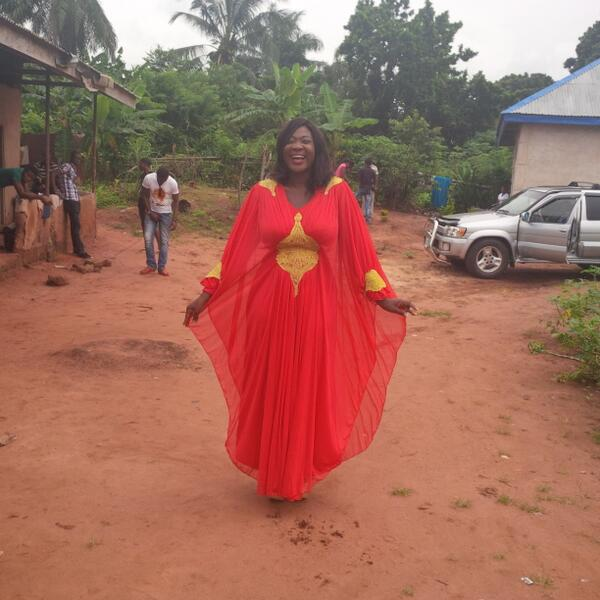 mercy johnson on movie set