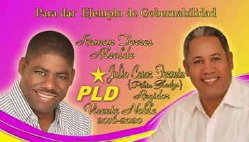 RAMÓN TORRES,  ALCALDE Y PIKIN GLADYS, REGIDOR,  POR EL MUNICIPIO DE VICENTE NOBLE