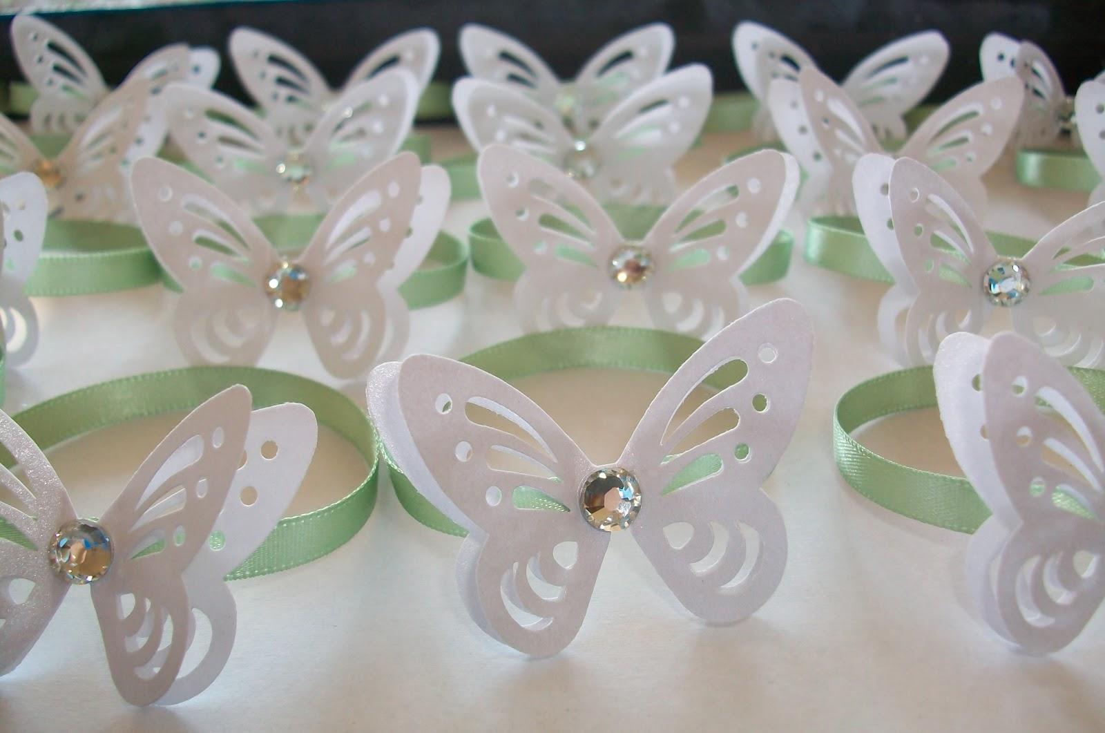 Matrimonio Tema Farfalle : Sara crea legatovaglioli verdi tema farfalle perlate