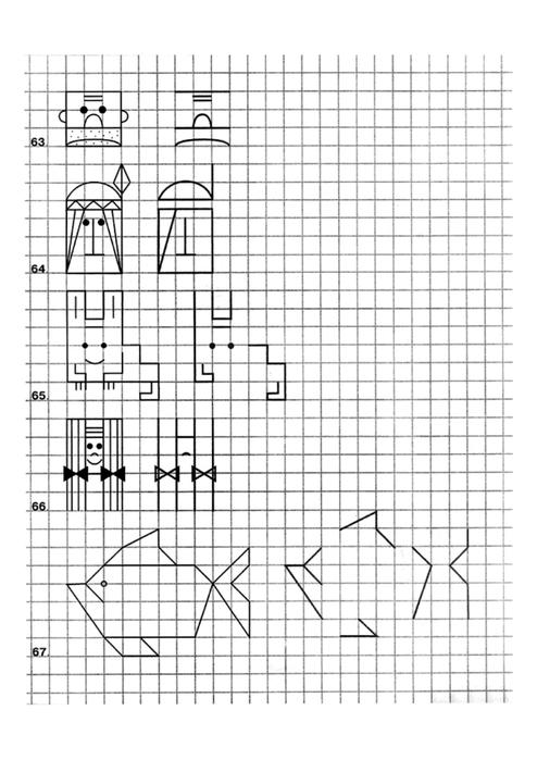 Figuras en cuadricula para niños - Imagui