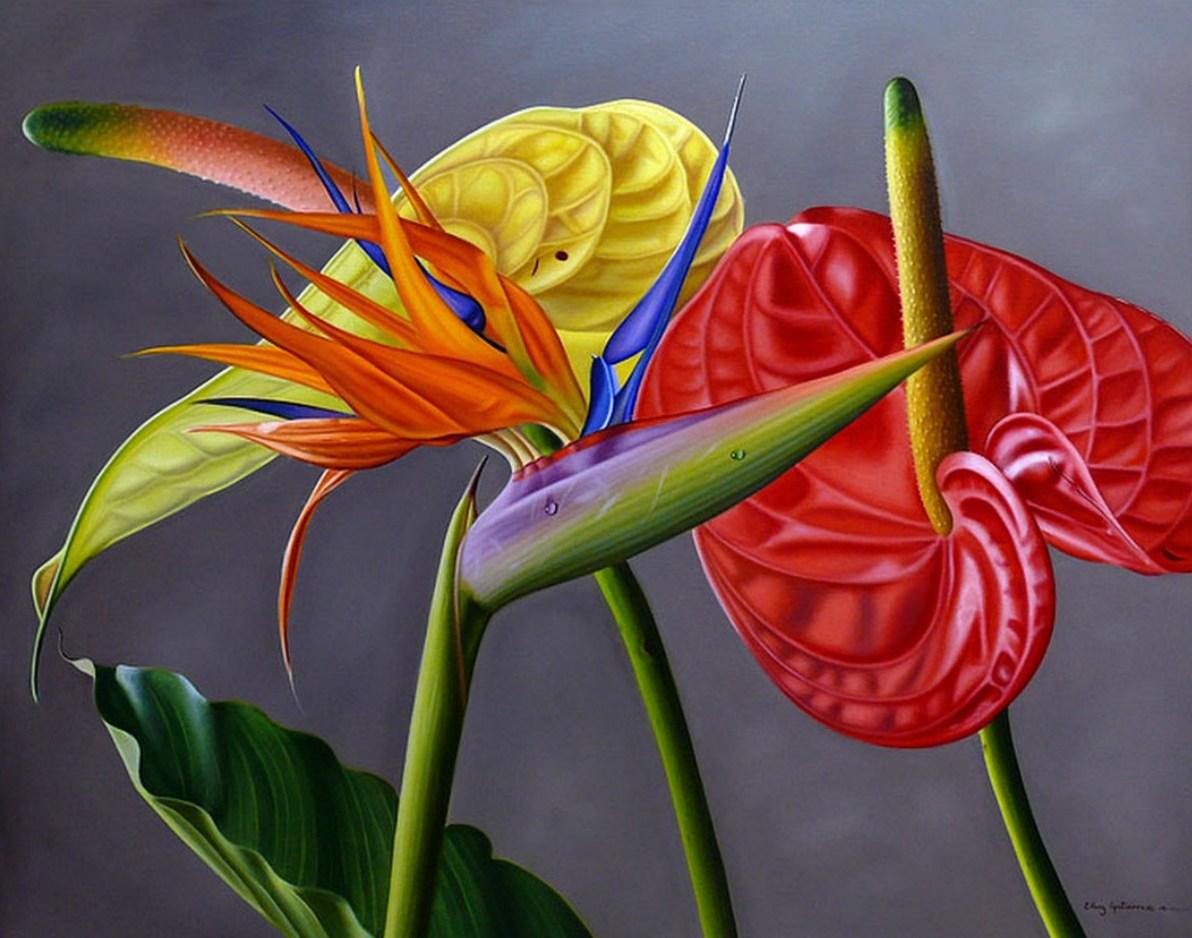Galeria Flores Pintadas Al Oleo Flores Pintadas Al Oleo Sobre Lienzo