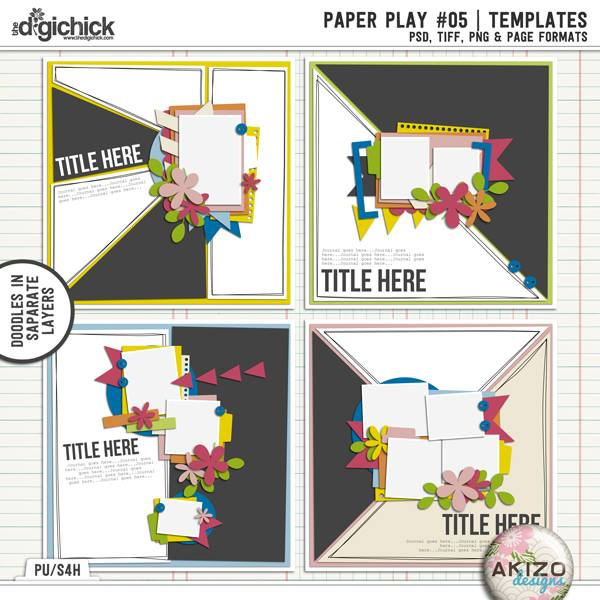 Template - Paper Play 05 by Akizo Designs