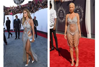 Sexy silver dress of Jlo and Amber Rose on MTV music awards