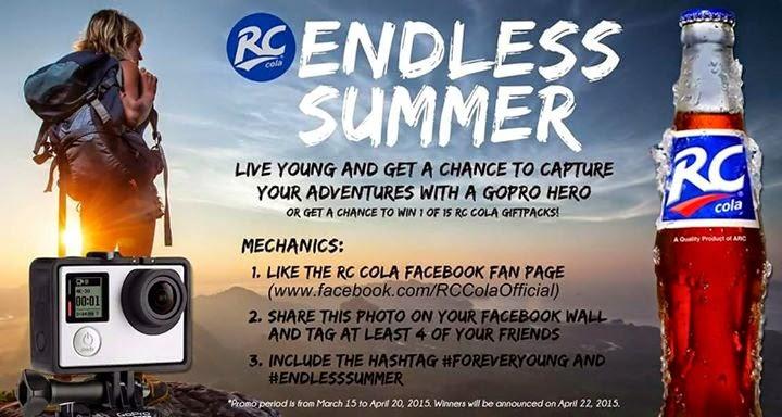 endlesssummer promo, RC Cola Philippines, Philippine promo