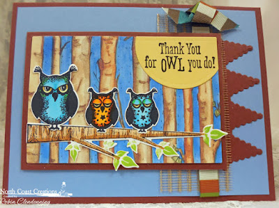North Coast Creations Stamp set: Who Loves You?, North Coast Creations Custom Dies: Owl Family, Our Daily Bread Designs Custom Dies: Pennant Row