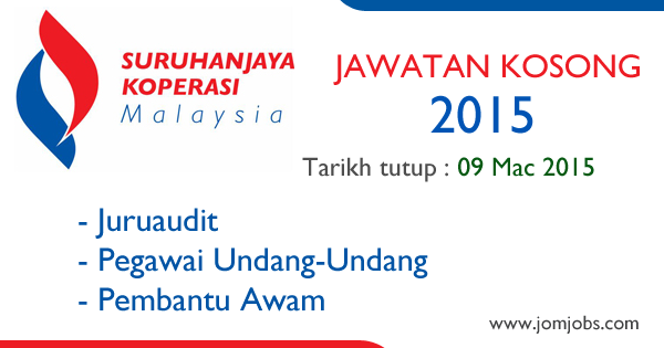 Jawatan Kosong Suruhanjaya Koperasi Malaysia (SKM) 2015