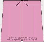 Bước 10: Hoàn thành cách xếp cái quần ống bằng giấy theo phong cách origami.