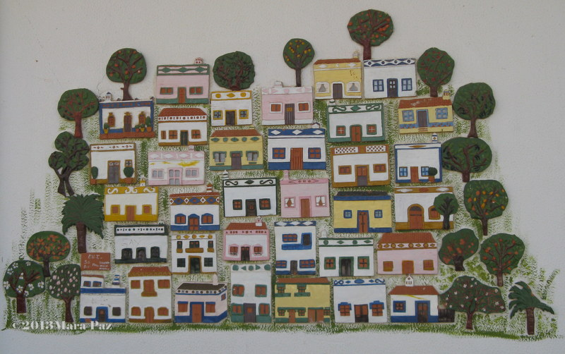 Typical Algarve houses panel