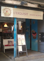 Entrada Cafeteria l'Exquisit. Girona. Gastronomia.