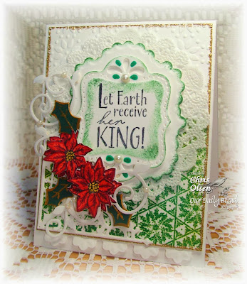 Our Daily Bread Designs, Chris Olsen, Holly Pattern Mini, The Earth, Poinsettia Wreath, Fancy Foliage, Circle Ornaments