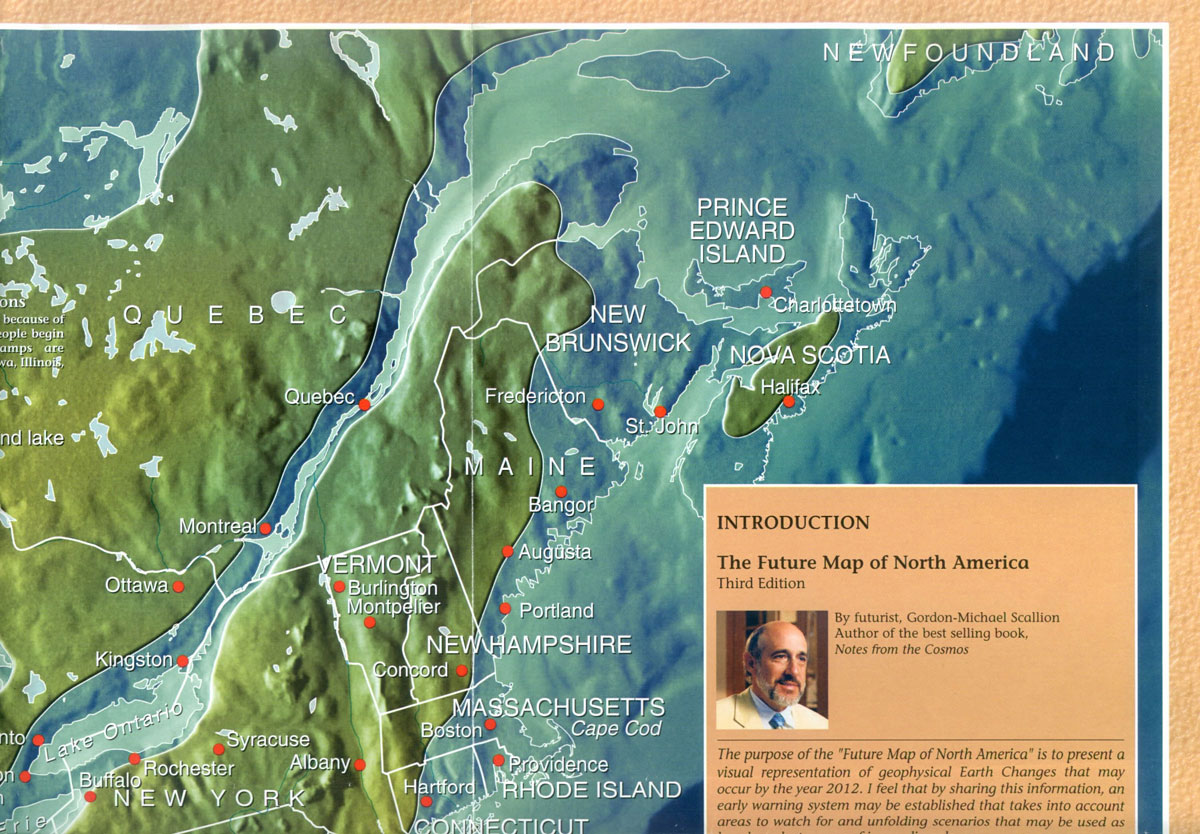 New World Land Maps After A Global Pole Shift Opinions And - Edgar cayce us map