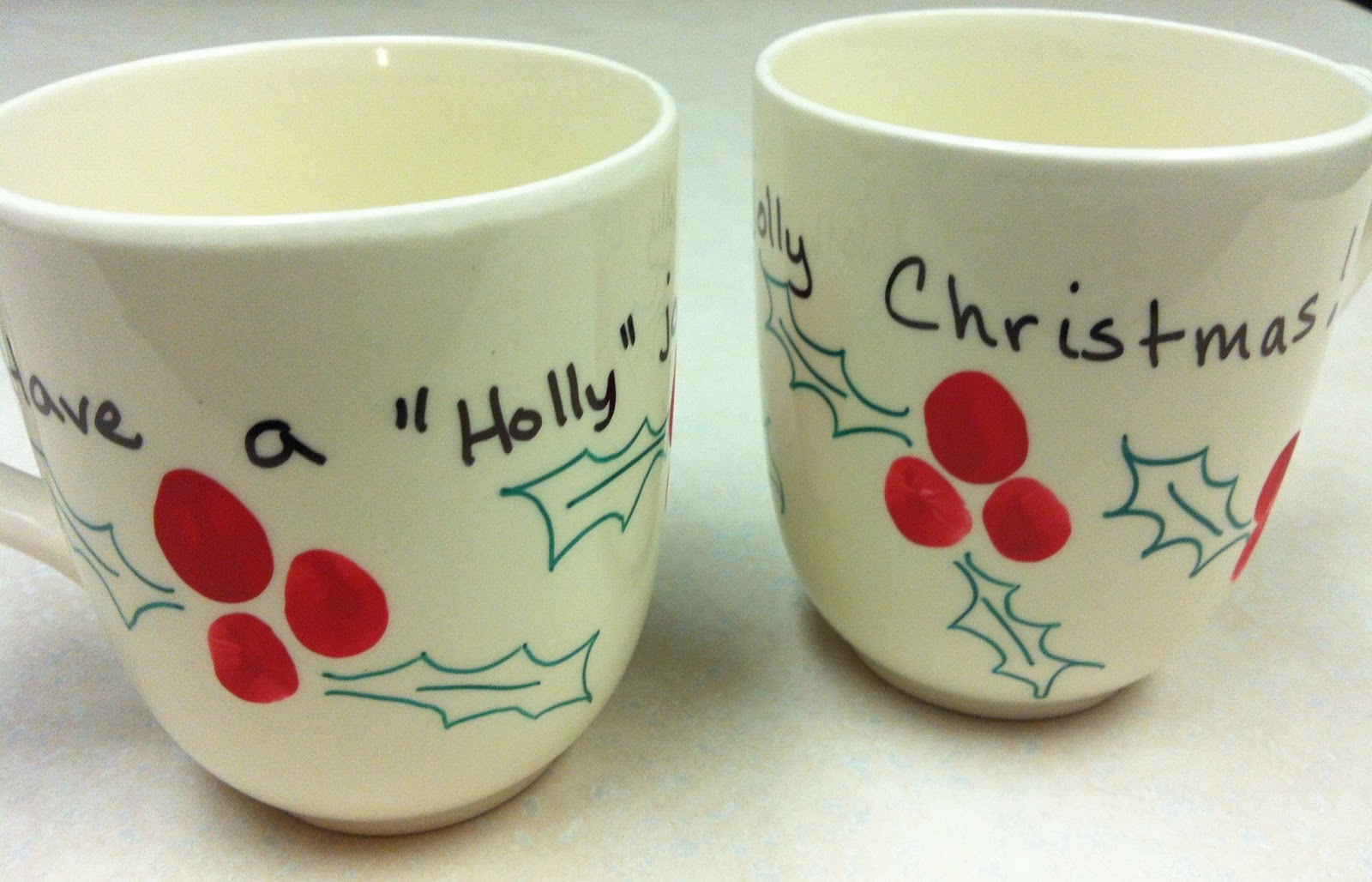 Handmade by CJ: DIY Christmas Sharpie Mugs