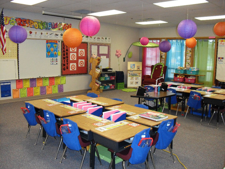 Classroom Decoration Colorful : The clutter free classroom just b use
