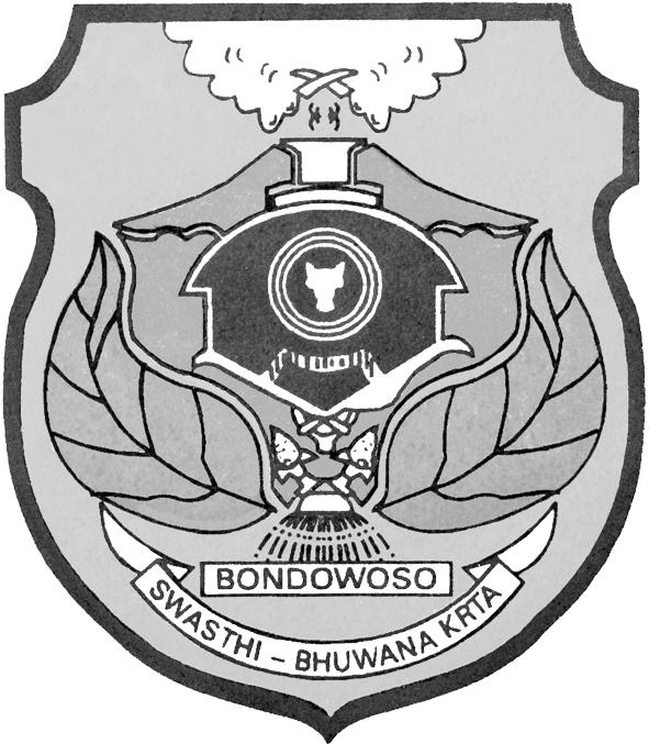 Logo Kabupaten Bondowoso Hitam Putih